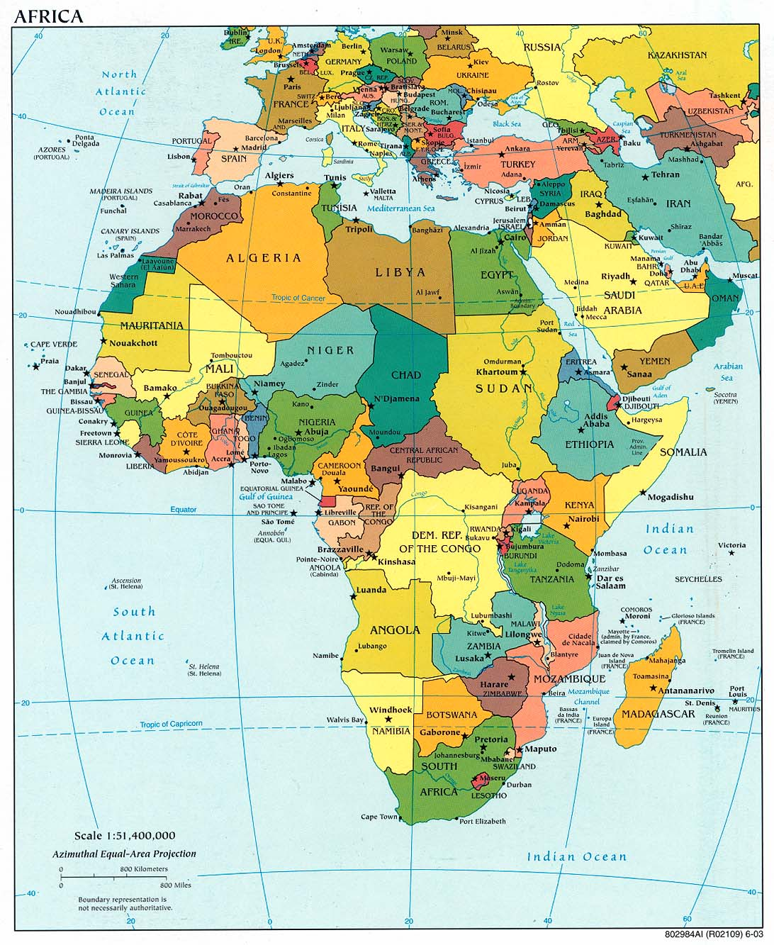 Map of Africa (political map) : Worldofmaps.net - online ...