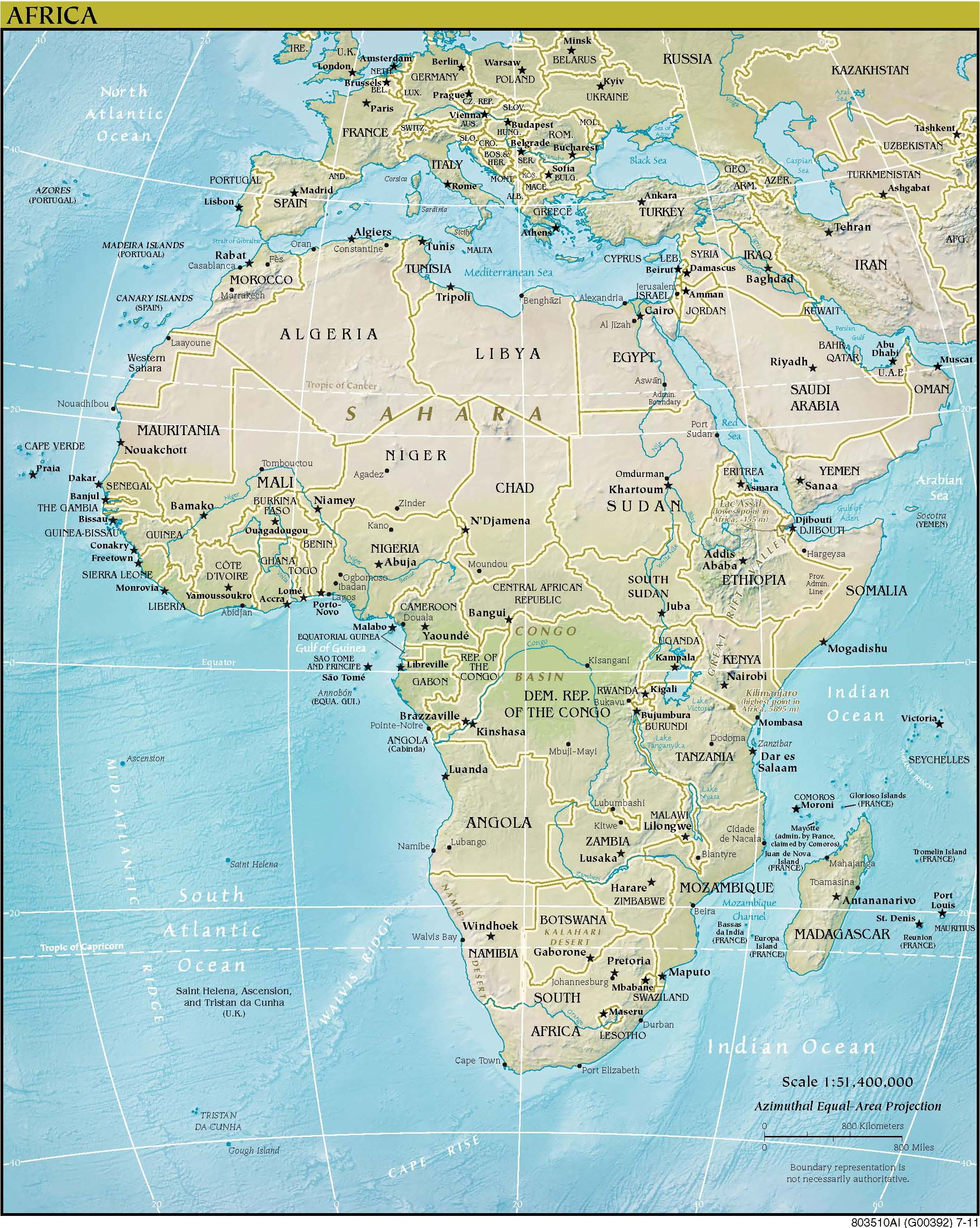 Map of Africa (political map) : Weltkarte.com - Karten und ...